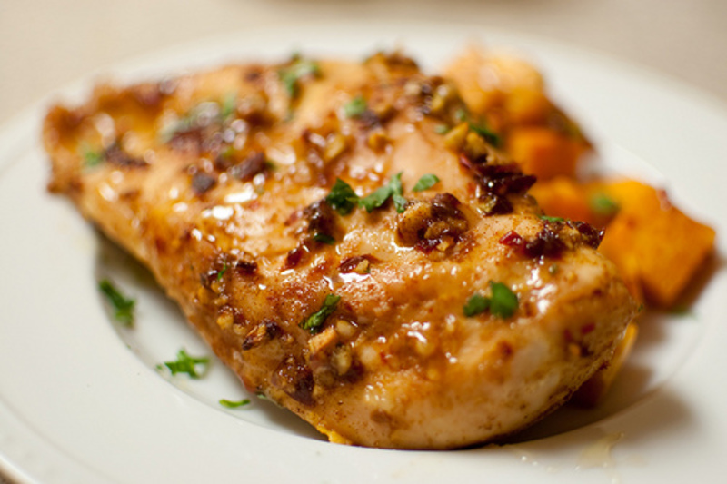 Spiced Chipotle Honey Chicken Breasts with Sweet Potatoes Recipe by ...