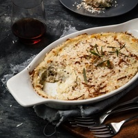 Happy Canadian Thanksgiving and a Garlic Herb Mashed Potato Gratin