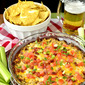 Lighter Bacon Cheeseburger Dip
