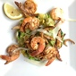 "Black Pepper Shrimp and Zucchini ""Fettuccine"""