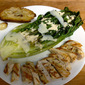 Grilled Chicken and Grilled Romaine Caesar Salad