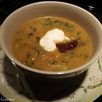 Comforting Sweet Potato Soup with Creamed Spinach