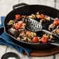 Jamie Oliver's Aubergine al Forno and Roasted Grapes with Cheese
