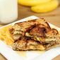 Peanut Butter, Banana and Honey Sandwich on Cinnamon Bread