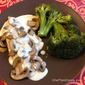 Chicken & Mushrooms with Roasted Garlic Cream Sauce