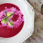 Beet Soup with Horseradish Dumplings, Cooking School in Heidelberg Germany