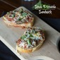 Steak Pizzaiola Open Face Sandwiches