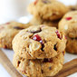 Almond Cranberry Oatmeal Cookies {Vegan}