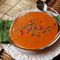 Tomato, Pumpkin and Bell Pepper Curry Soup