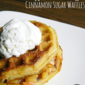 Apple Pie Stuffed Cinnamon Sugar Waffles #WaffleWednesdays