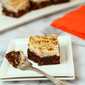 Kahlua Pumpkin Spice Brownies with Brown Butter and Kahlua Frosting