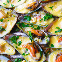 Baked Stuffed Tahong (Mussels)