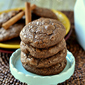 Spiced Chocolate Crackle Cookies