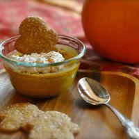 "Baked Pumpkin Custard with Nutmeg Pie ""Crisps"""