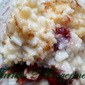 Rice Pudding with Warm Cranberry Sauce