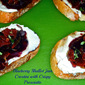 November Secret Recipe Club...Featuring Blueberry Shallot Jam Crostini with Crispy Prosciutto from Spinach Tiger
