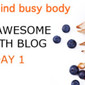 DAY 1 Daily Nov-Awesome Health Blog – 30 Day Bikram Yoga Challenge, Fave Healthy Foods, Fave Fitness Music