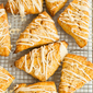 Sweet Potato Scones with Maple Cream Glaze