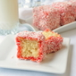 Strawberry Coconut Cake Squares a.k.a Strawberry Lamingtons