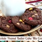 Chocolate Peanut Butter M&M Cake Mix Cookies