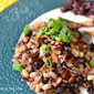 Blueberry Bonanza {Part 2} Wild Rice with Blueberries and Balsamic