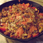 Simple Fresh Tomato and Bread Stuffing featuring Lo Salt