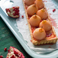 Forelle Pear Pomegranate Tart