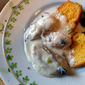 Creamed Oysters On Toasted Cornbread