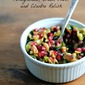 Pomegranate, Green Olive and Cilantro Relish + How to Keep Herbs Fresh