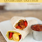 Chicken Fajita Breakfast Burritos