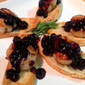 Scallop Crostini with Blueberry-Rosemary Sauce