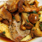 Chanterelles with Sage, Roasted Pork Tenderloin & Polenta