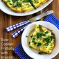 Slow cooker Frittata Recipe with Broccoli, Swiss, Cottage Cheese, and Parmesan