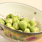 Roasted Brussels Sprouts with Cabbage and Pine Nuts