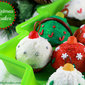 Christmas cupcakes – Christmas balls mini-cupcakes decoration ideas