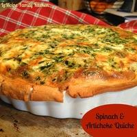 My Spinach & Artichoke Quiche