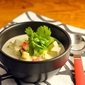 Quick and easy Thai curry coconut soup recipe with tofu and vegetables