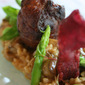 Duck leg with smoked Risotto