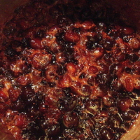 Cranberries with Jezebel Sauce