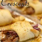 Apple Bourbon Barbecue Pulled Pork Crescents.