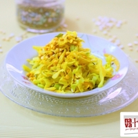 Cabbage Stir Fried with Kadalai Paruppu/Chana Dal And Cumin Seeds