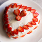 strawberry cream cake recipe | eggless strawberry cream gateau cake