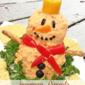 Snowman Pimento Cheese Ball Recipe