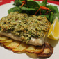 Baked Fish with Macadamia Herb Crust