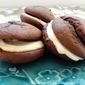 Recipe For Chocolate Whoopie Pies With A Salted Caramel Filling