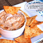 Baked Crab Rangoon Dip & Homemade Wonton Chips