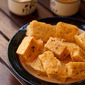 pan fried tofu recipe, how to make pan fried tofu with peanut sauce