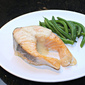 Roast Salmon Steaks with White Wine Sauce