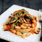 Mushroom, Tomato & Basil Ragout Recipe on English Muffin