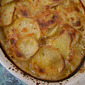 Garlicky Potatoes Au Gratin